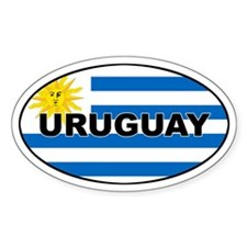 Uruguay Flag Oval Decal