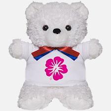 Hot Pink Hibiscus Teddy Bear