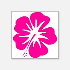 Hot Pink Hibiscus Sticker