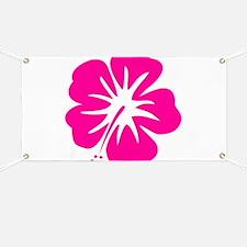Hot Pink Hibiscus Banner