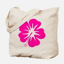 Hot Pink Hibiscus Tote Bag