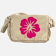 Hot Pink Hibiscus Messenger Bag