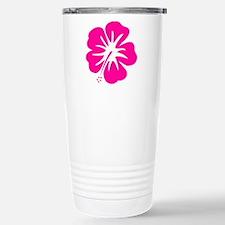Hot Pink Hibiscus Travel Mug