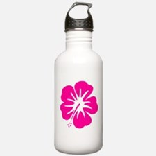 Hot Pink Hibiscus Water Bottle