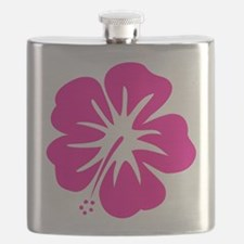 Hot Pink Hibiscus Flask