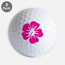 Hot Pink Hibiscus Golf Ball