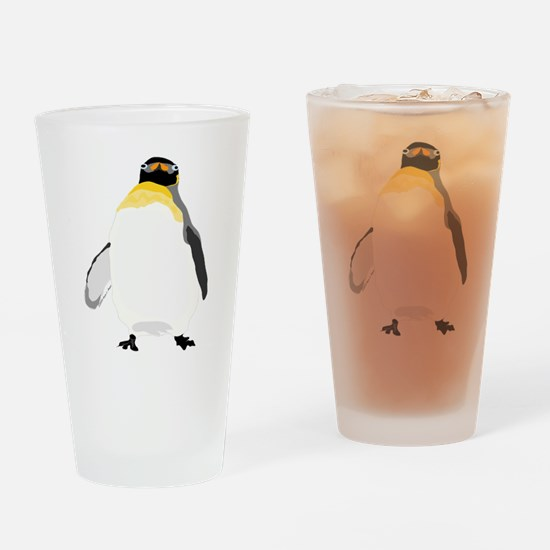Emperor Chubby Penguin Drinking Glass