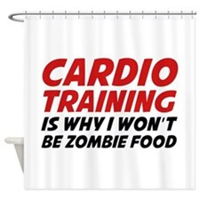 Cardio Training Zombie Food Shower Curtain