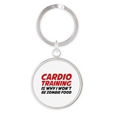 Cardio Training Zombie Food Round Keychain