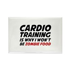 Cardio Training Zombie Food Rectangle Magnet
