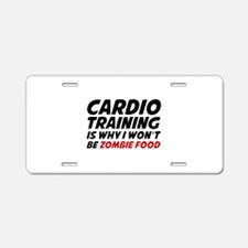 Cardio Training Zombie Food Aluminum License Plate