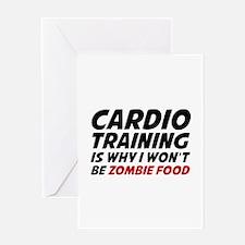 Cardio Training Zombie Food Greeting Card