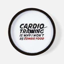 Cardio Training Zombie Food Wall Clock