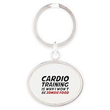 Cardio Training Zombie Food Oval Keychain
