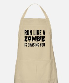 Run like a zombie is chasing you Apron