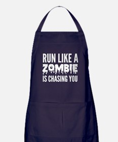 Run like a zombie is chasing you Apron (dark)