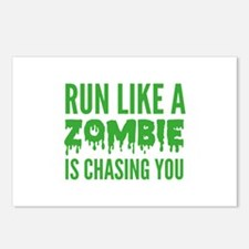 Run like a zombie is chasing you Postcards (Packag