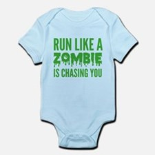 Run like a zombie is chasing you Infant Bodysuit