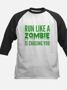 Run like a zombie is chasing you Kids Baseball Jer