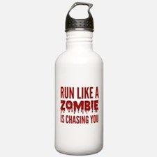 Run like a zombie is chasing you Water Bottle