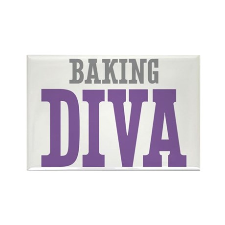Baking DIVA Rectangle Magnet (100 pack)
