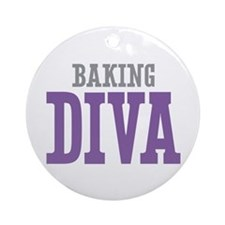 Baking DIVA Ornament (Round)