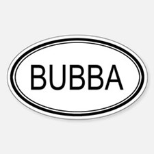 Bubba Oval Design Oval Decal