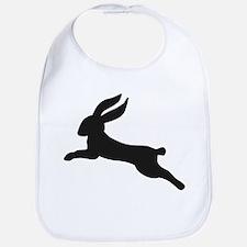 Black bunny rabbit Bib
