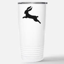 Black bunny rabbit Stainless Steel Travel Mug