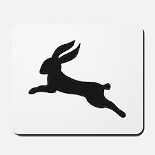 Black bunny rabbit Mousepad