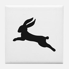 Black bunny rabbit Tile Coaster