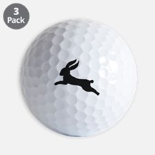 Black bunny rabbit Golf Ball