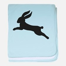 Black bunny rabbit baby blanket