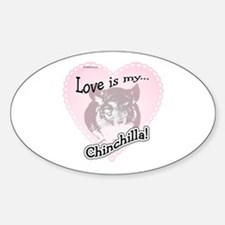 Chin Love Is Oval Decal