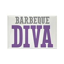 Barbeque DIVA Rectangle Magnet (100 pack)