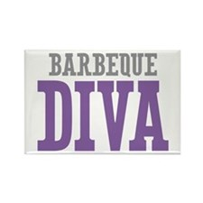 Barbeque DIVA Rectangle Magnet