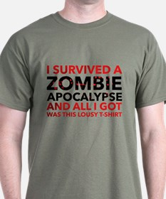 I Survived A Zombie Apocalypse T-Shirt