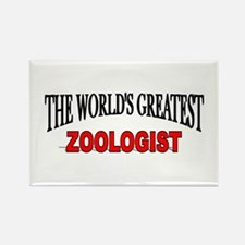 """The World's Greatest Zoologist"" Rectangle Magnet"
