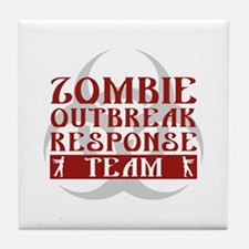 Zombie Outbreak Response Team Tile Coaster