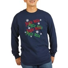 Jingle Bells Long Sleeve Navy T-Shirt