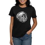 Urban Peace Sign Sketch Women's Dark T-Shirt