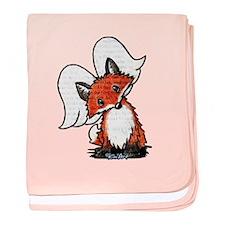KiniArt Winged Fox baby blanket