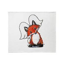 KiniArt Winged Fox Throw Blanket