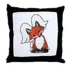 KiniArt Winged Fox Throw Pillow