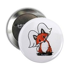 "KiniArt Winged Fox 2.25"" Button (10 pack)"