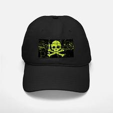 Worn Green Skull And Crossbones Baseball Hat