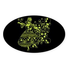 Green Skull Dancer Decal