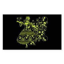Green Skull Dancer Decal