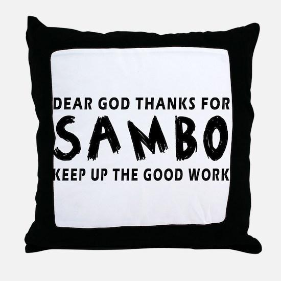 Sambo Martial Arts Designs Throw Pillow