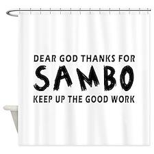 Sambo Martial Arts Designs Shower Curtain